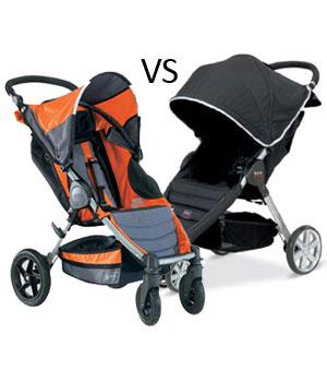 Bob Motion Vs Britax B Agile Strollers Comparison Mom S